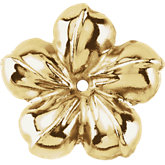14K Yellow Floral-Inspired Earring Jackets, 13 mm